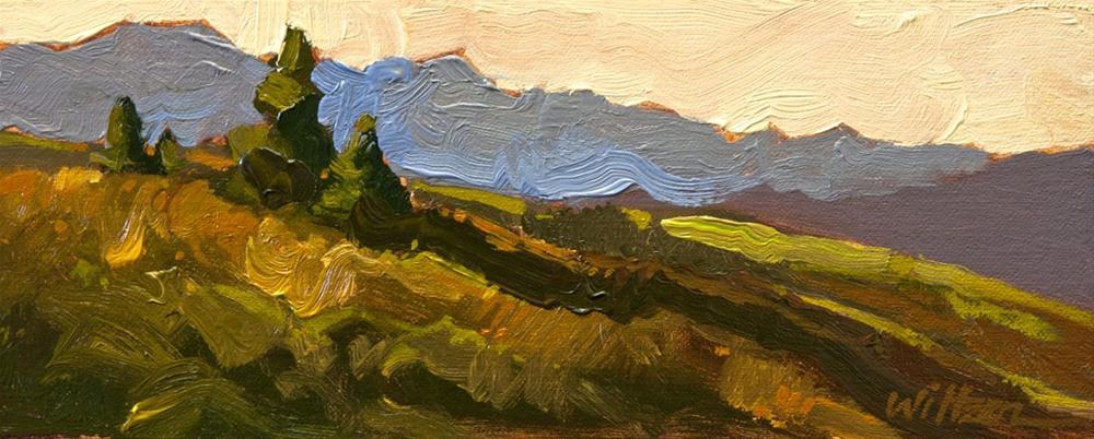 """The Kootenays"" original fine art by Liz Wiltzen"