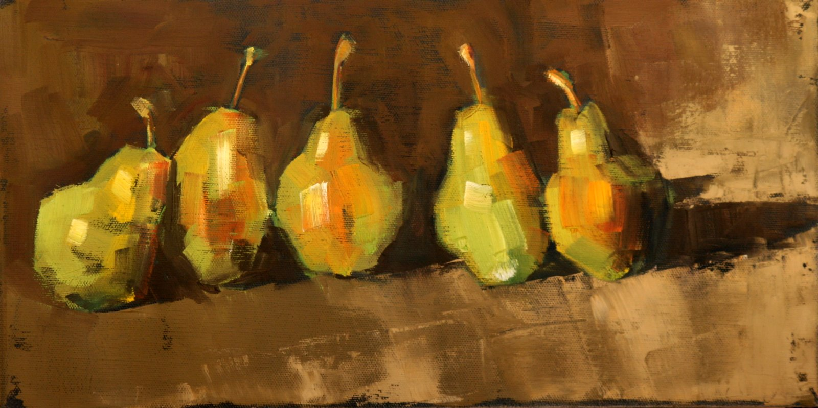 """the bartlett five"" original fine art by Carol Carmichael"