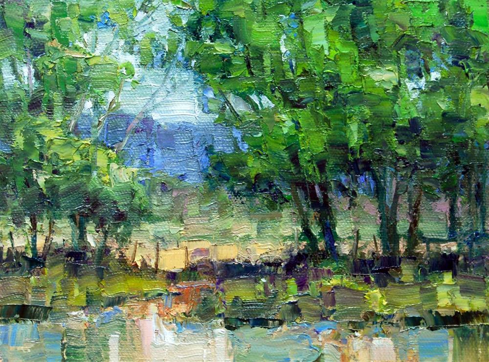 Spring Green original fine art by Julie Ford Oliver