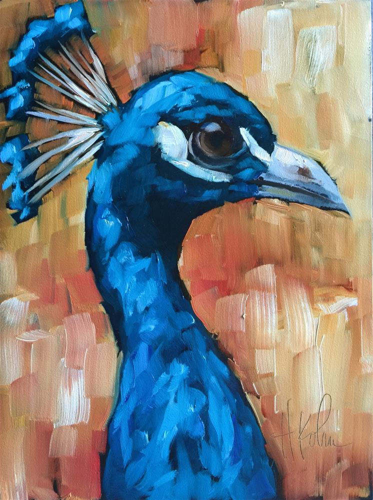"""Peacock"" original fine art by Hallie Kohn"