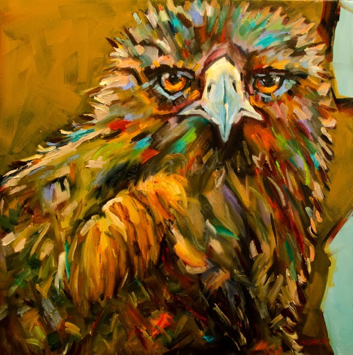 """ARTOUTWEST DIANE WHITEHEAD GOLDEN EAGLE DIANE WHITEHEAD FINE ART OIL PAINTING"" original fine art by Diane Whitehead"