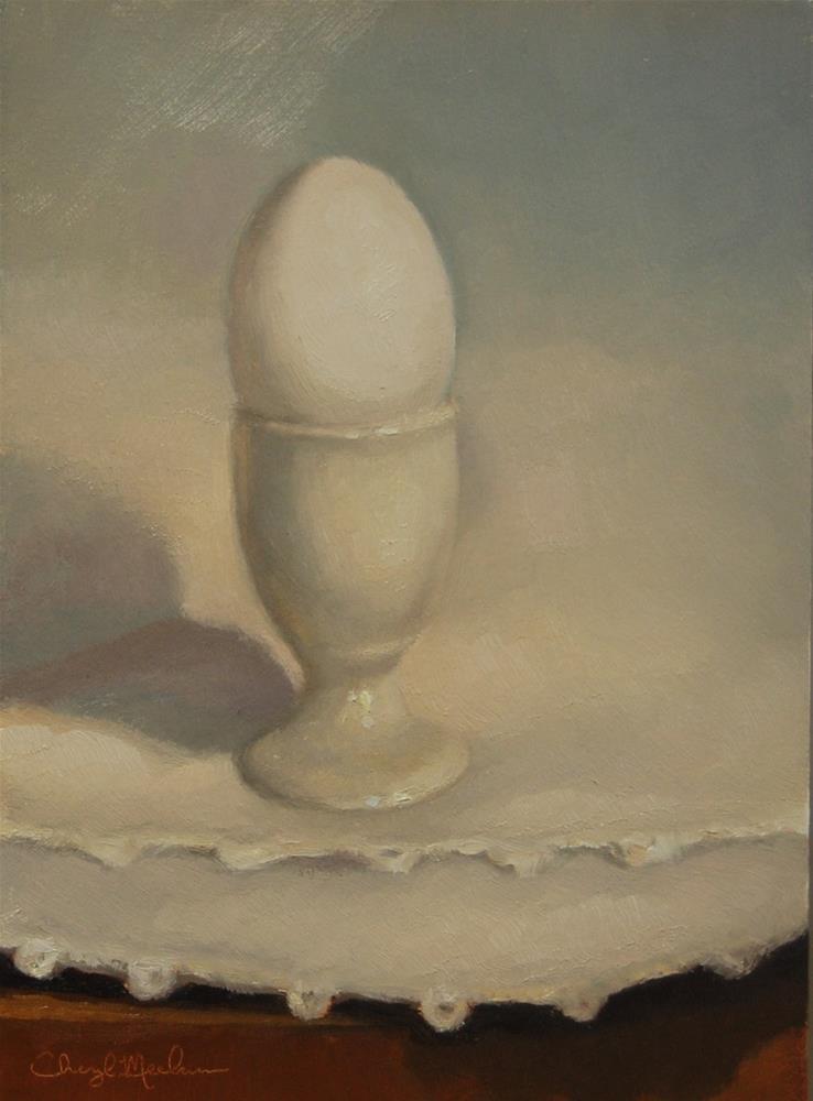 """Egg Cup"" original fine art by Cheryl Meehan"