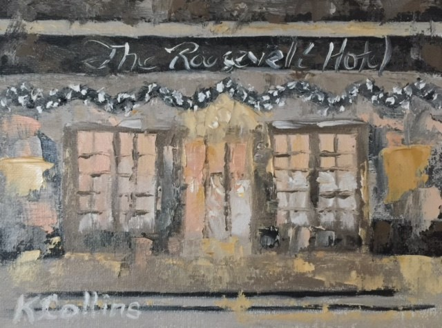 """Roosevelt Hotel"" original fine art by Kathy Collins"