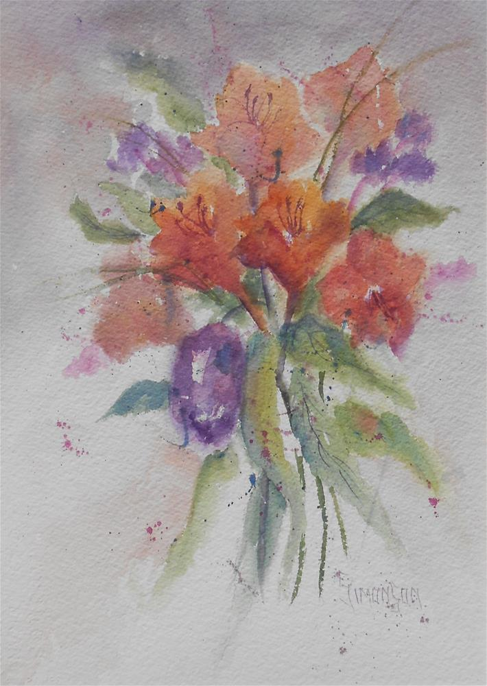"""One Purple Tulip"" original fine art by Bev Simonson"