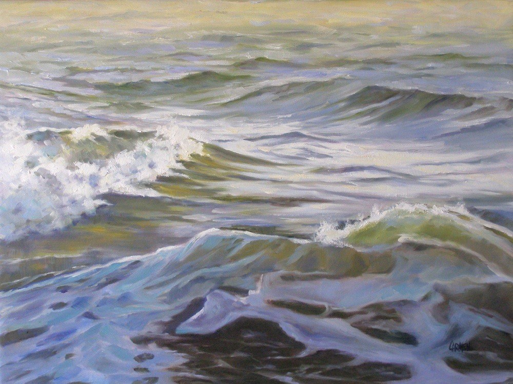"""Ocean Shadow, 18x24 Oil on Canvas"" original fine art by Carmen Beecher"