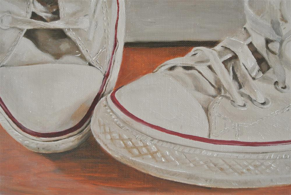 """Baseball Boots"" original fine art by James Coates"