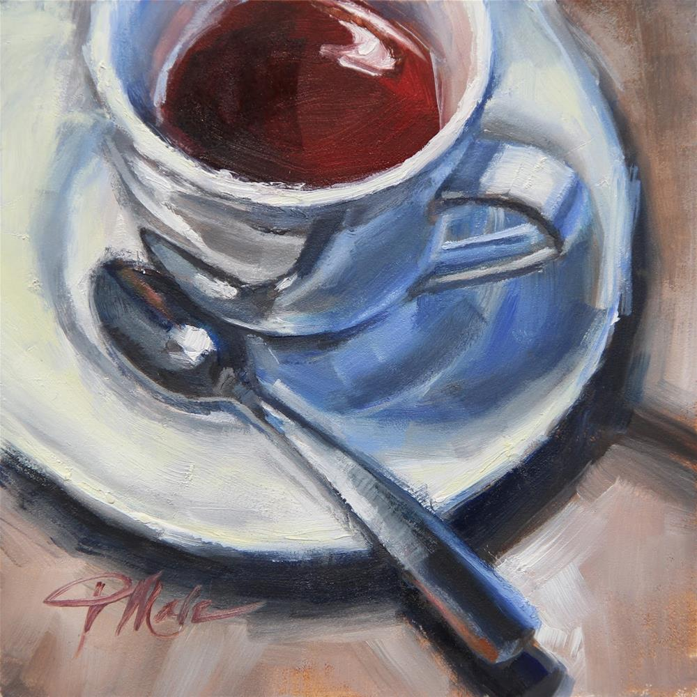 """Afternoon Tea"" original fine art by Tracy Male"