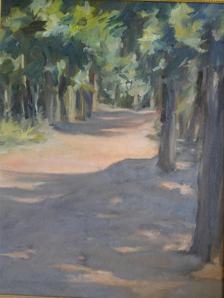 """Wooded Path"" original fine art by angela scully"