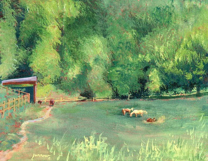"""Along Barbour's Creek"" original fine art by Sue Furrow"