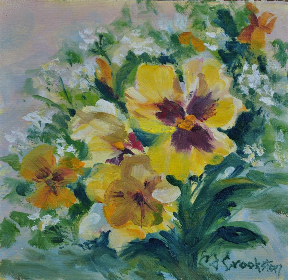 """Pansy Patch"" original fine art by Catherine Crookston"
