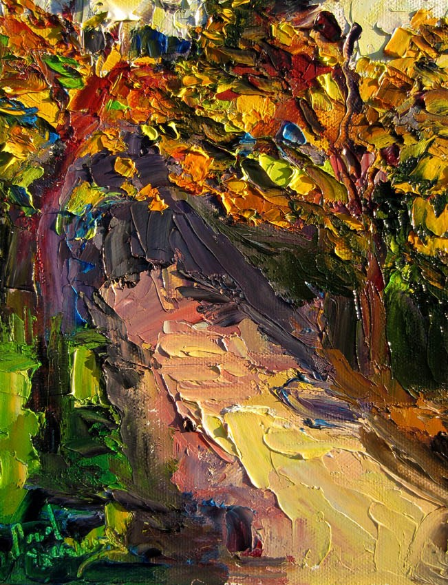 """Backlit Trees on Navy St"" original fine art by Carol Steinberg"