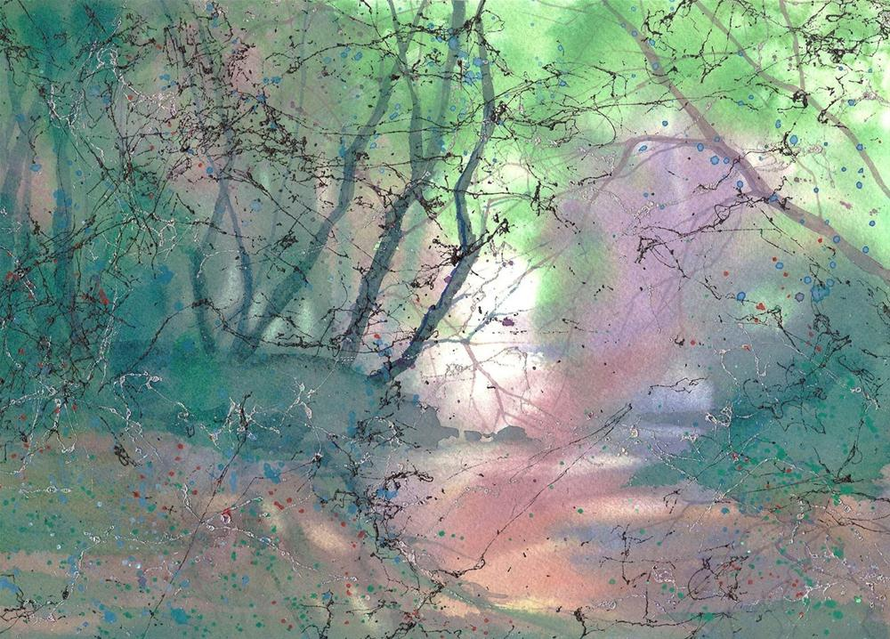 """Misty Morning"" original fine art by Margie Whittington"