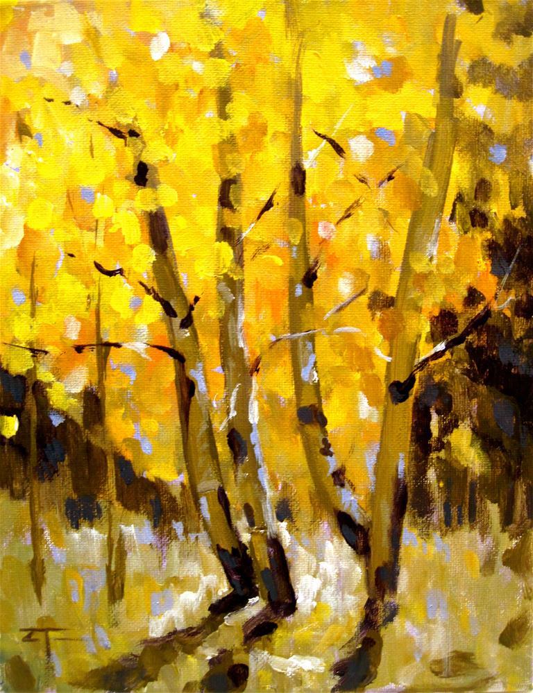 """Federal Gulch Aspens"" original fine art by Zack Thurmond"