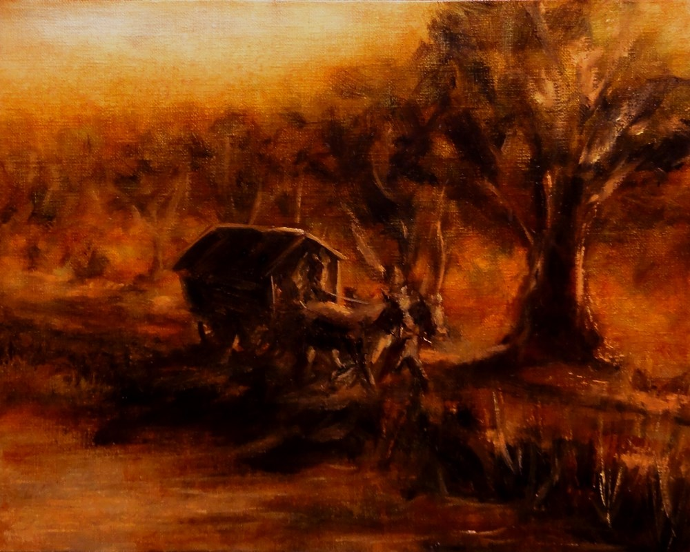 """Home Before The Dark"" original fine art by Dalan Wells"