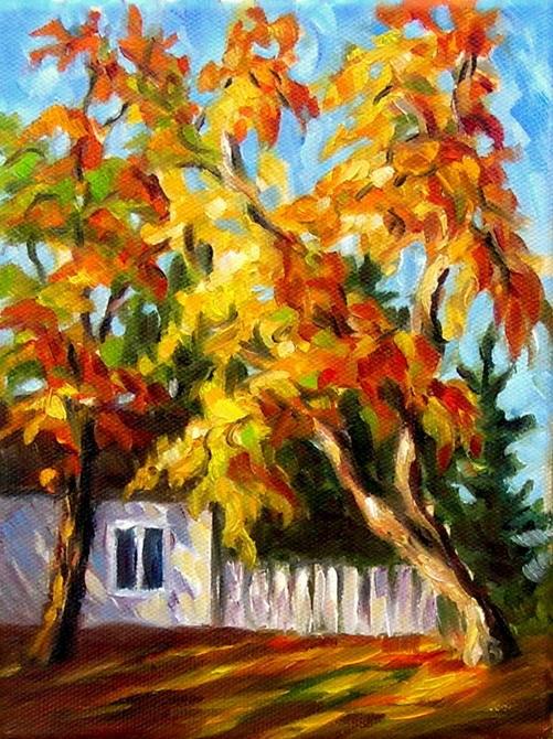"""October in Michigan"" original fine art by Irina Beskina"
