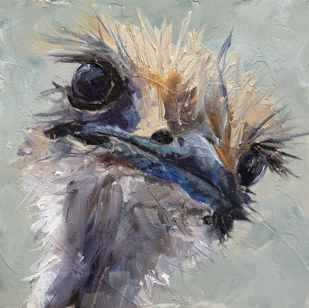 """""""OTTITUDE AN OSTRICH © SAUNDRA LANE GALLOWAY"""" original fine art by Saundra Lane Galloway"""