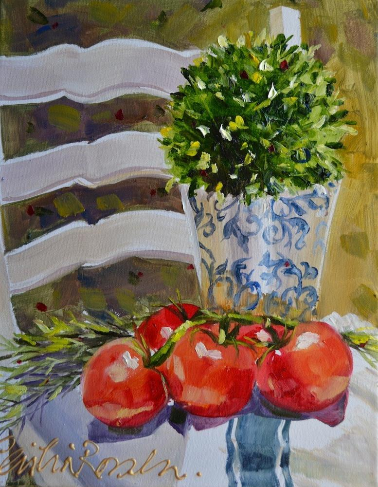 """Tomatoes of Provence"" original fine art by Cecilia Rosslee"