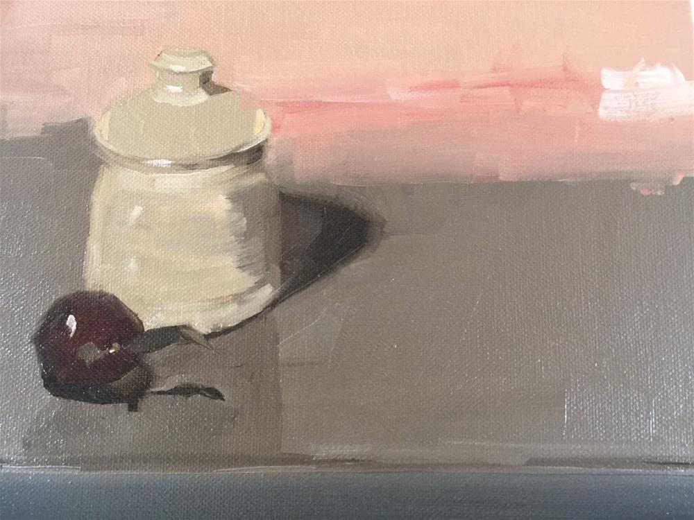 """281 Honey Pot and Plum"" original fine art by Jenny Doh"