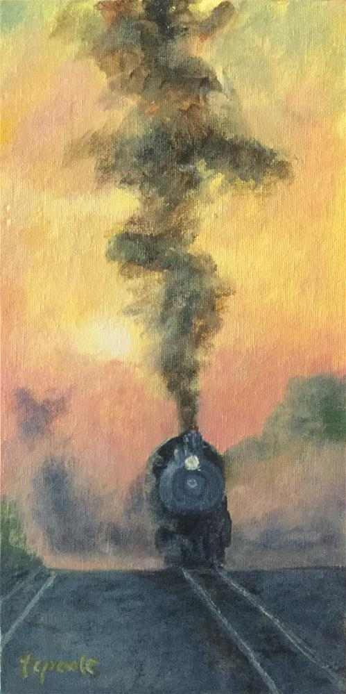 """Smoke Signals"" original fine art by T.C. Poole"