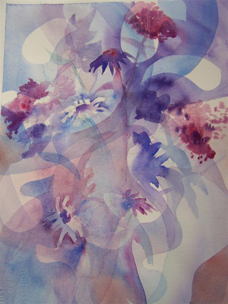 """Floral Abstract"" original fine art by Joan Reive"