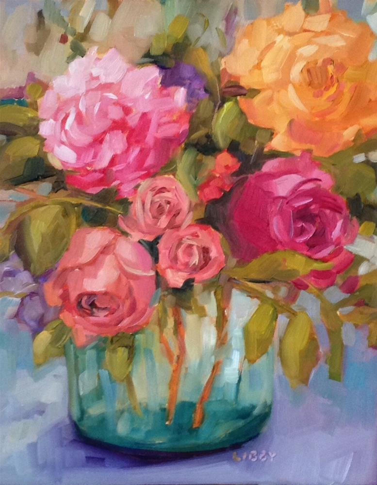 """VIP Blooms"" original fine art by Libby Anderson"