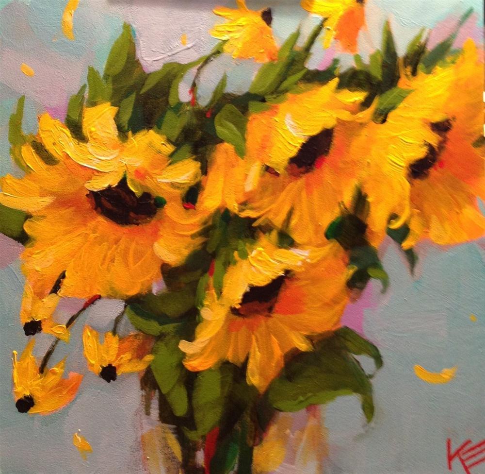 """Surprised by sunshine"" original fine art by Krista Eaton"