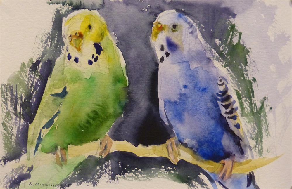 """budgie4"" original fine art by Katya Minkina"