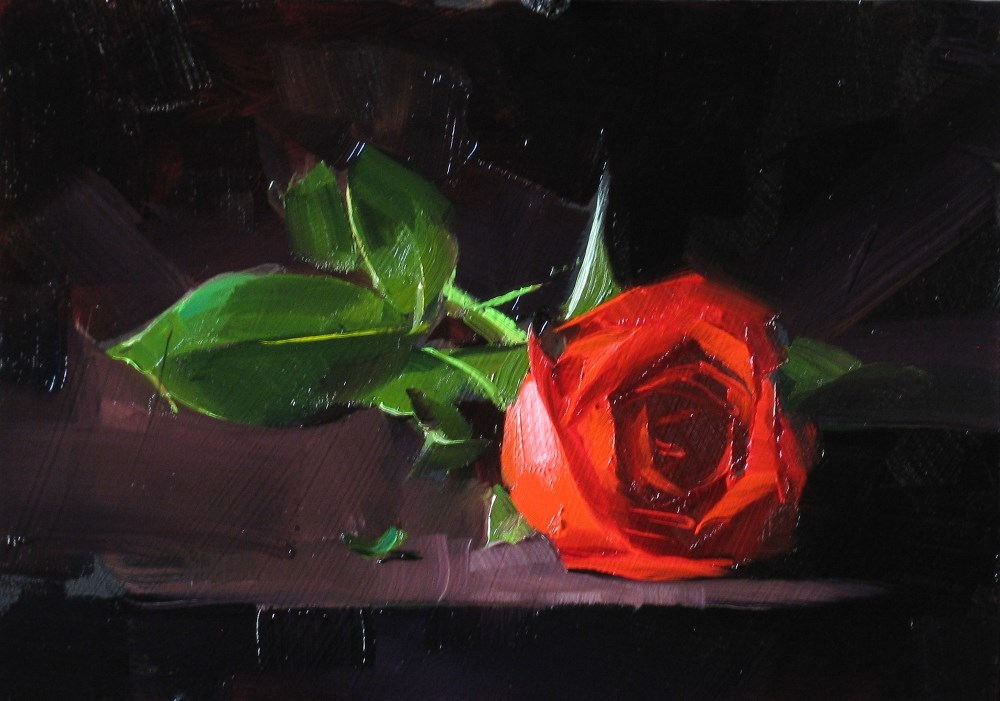 """To My Valentine 2"" original fine art by Qiang Huang"