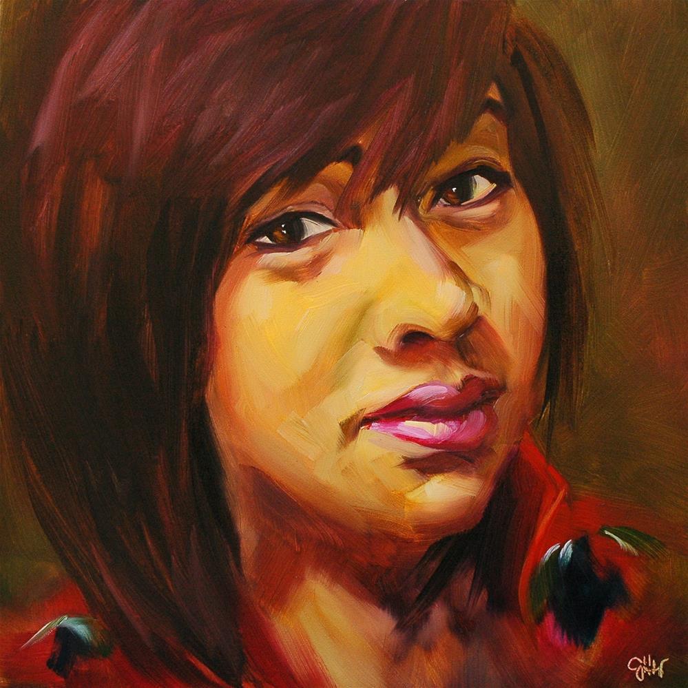 """Winsome"" original fine art by Janette Harter"