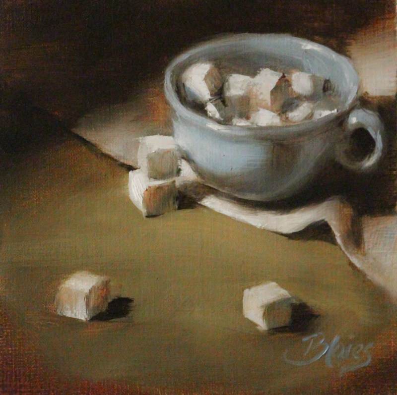 """One Lump or Two...or Twenty"" original fine art by Pamela Blaies"