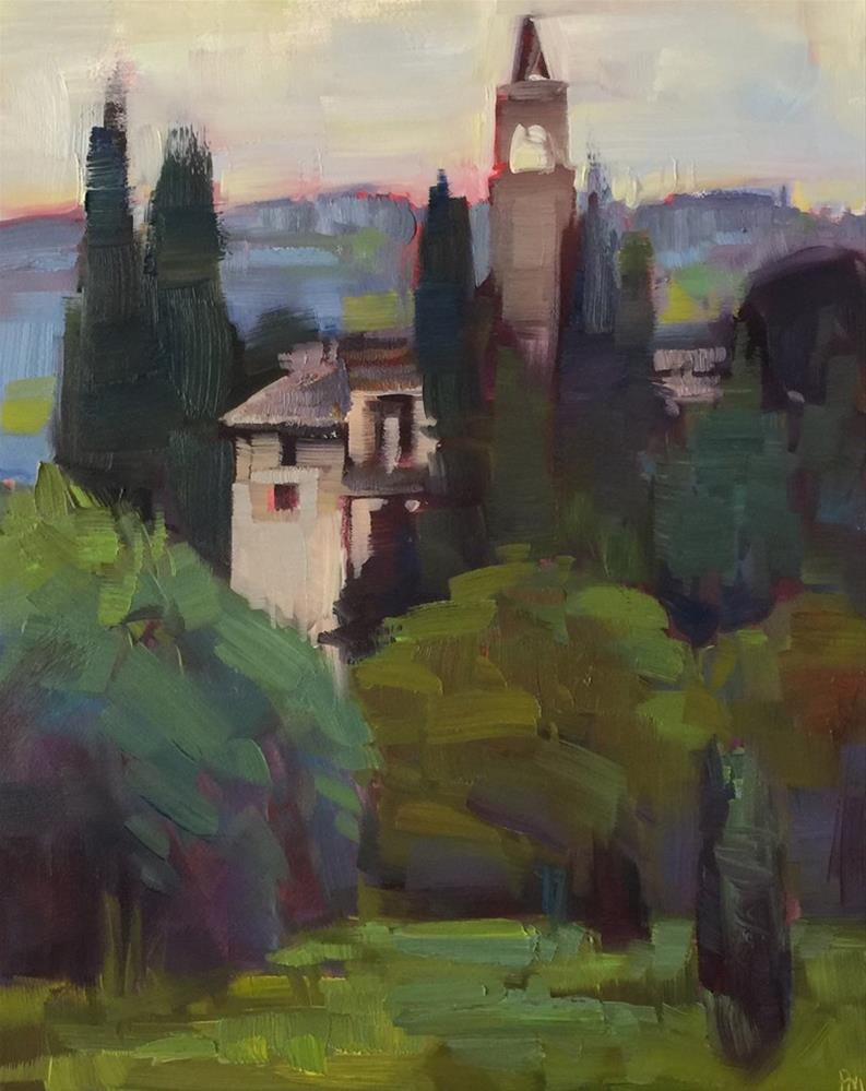 """Castello di Montegufoni"" original fine art by Patti McNutt"