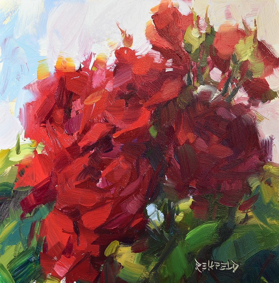 """Sunny Day Roses"" original fine art by Cathleen Rehfeld"