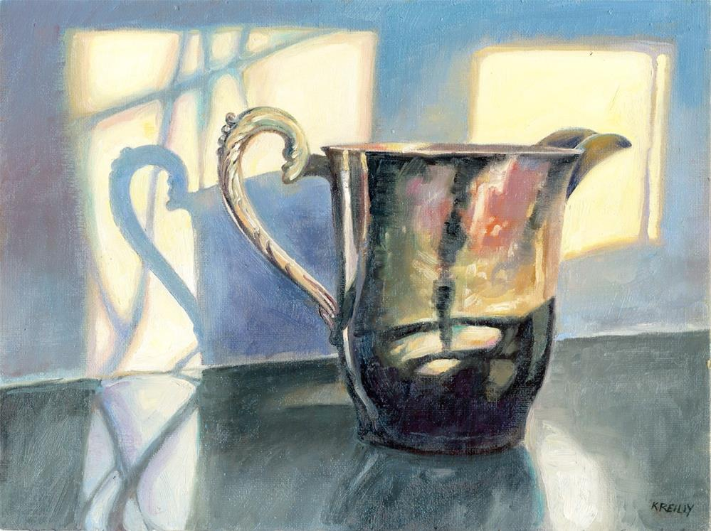 """Tarnished Pitcher"" original fine art by Kath Reilly"