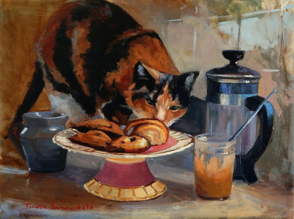 """Tea Time"" original fine art by Jonelle Summerfield"