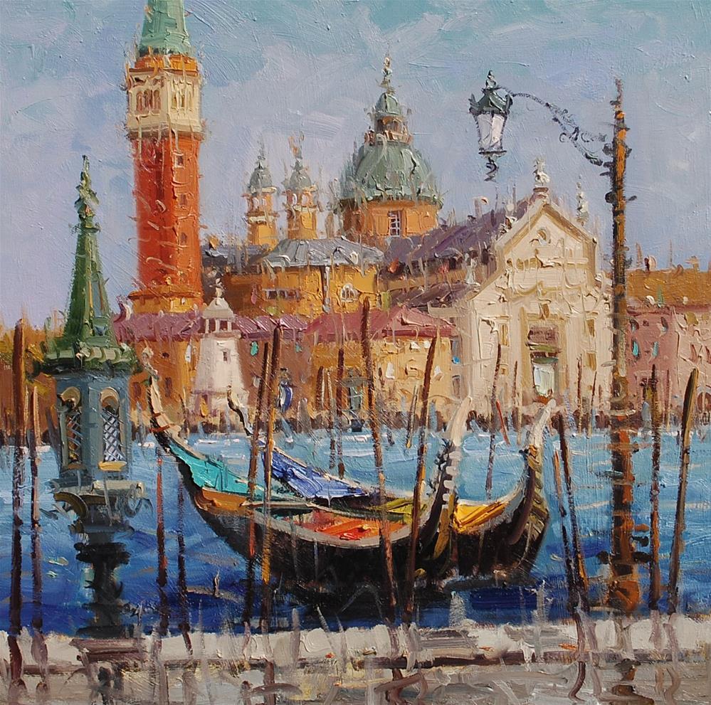"""San giorgio magirre(Venice)"" original fine art by Mostafa Keyhani"
