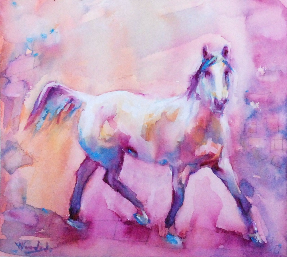 """confidence"" original fine art by Vicki Wood"