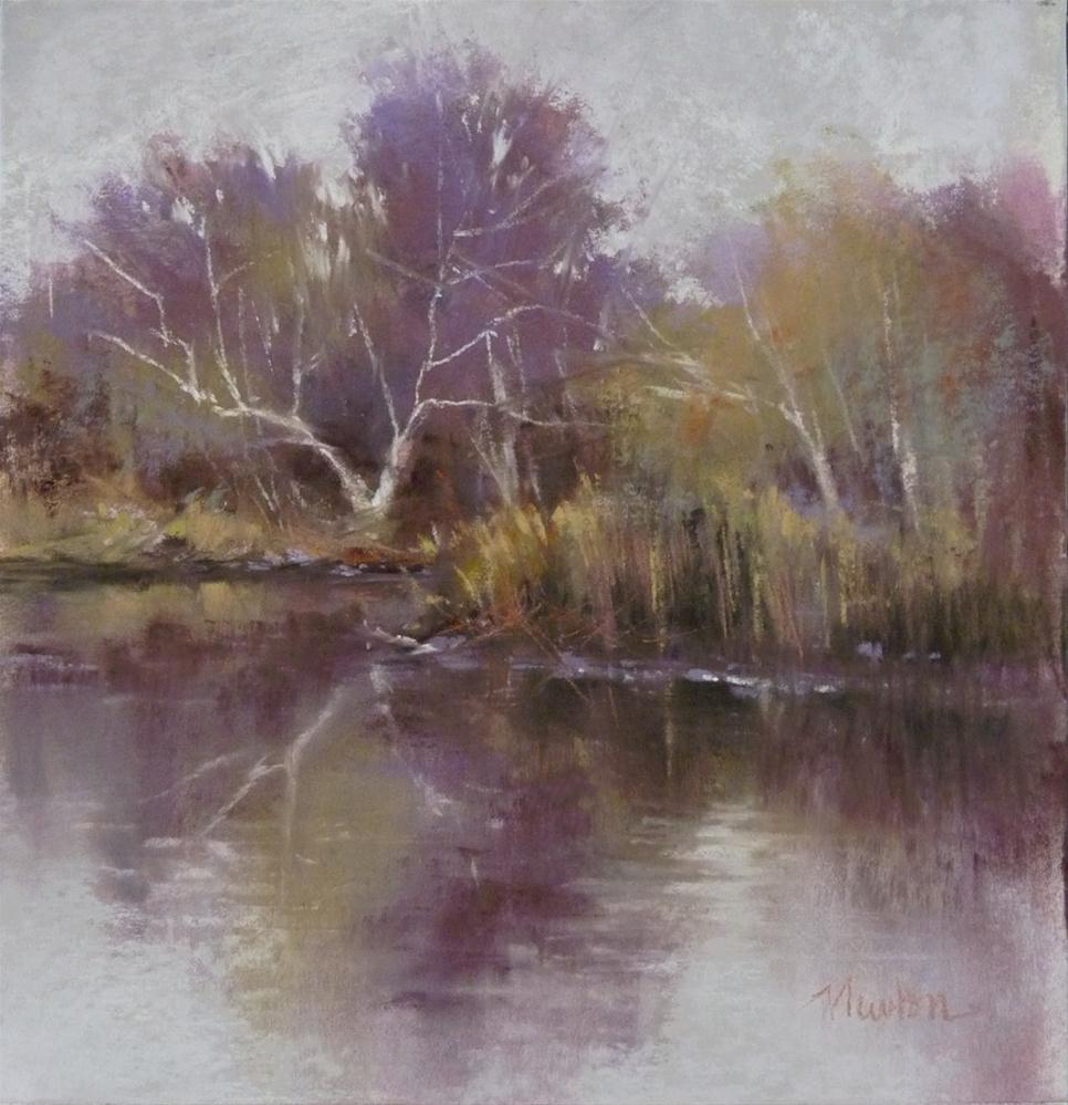 """Color Study for Arboretum - Winter Afternoon"" original fine art by Barbara Benedetti Newton"