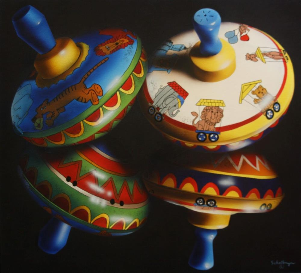 """Spinners with Reflections"" original fine art by Fred Schollmeyer"