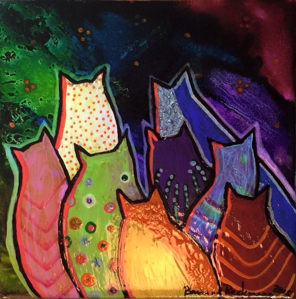 """""""Just Cats"""" original fine art by Barbara Beckmann"""