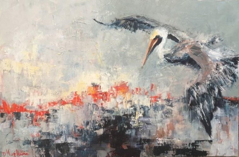 """""""Launch"""" original fine art by Denise Hopkins"""