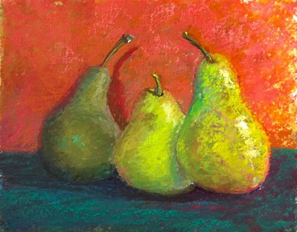 """Pear Study"" original fine art by karen israel"