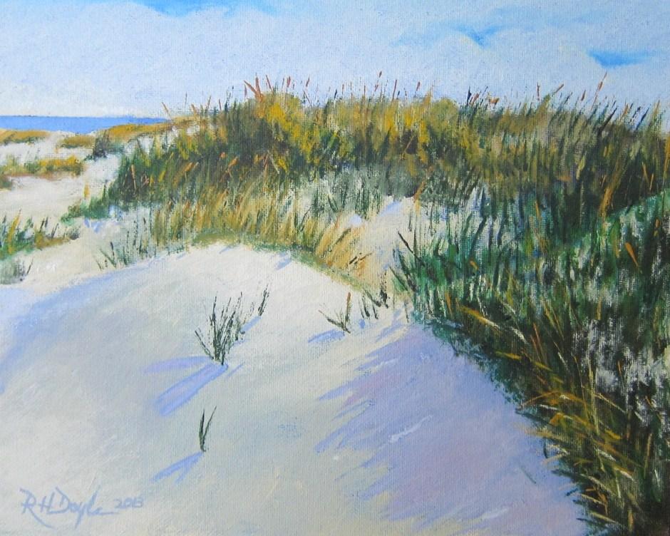 """Jones Beach Dunes"" original fine art by Richard Doyle"