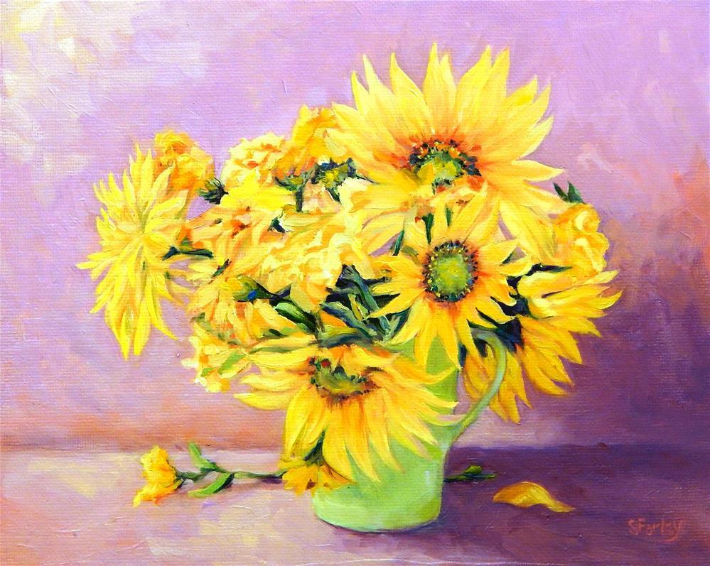 """Cup O' Sunshine"" original fine art by Sandy Farley"