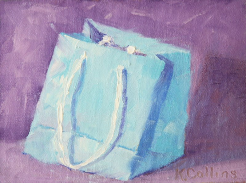 """The Bag"" original fine art by Kathy Collins"