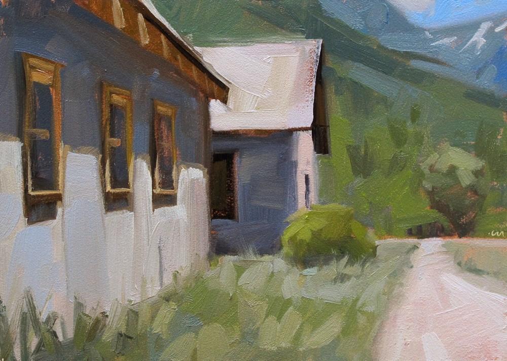 """High Country Shacks"" original fine art by Carol Marine"