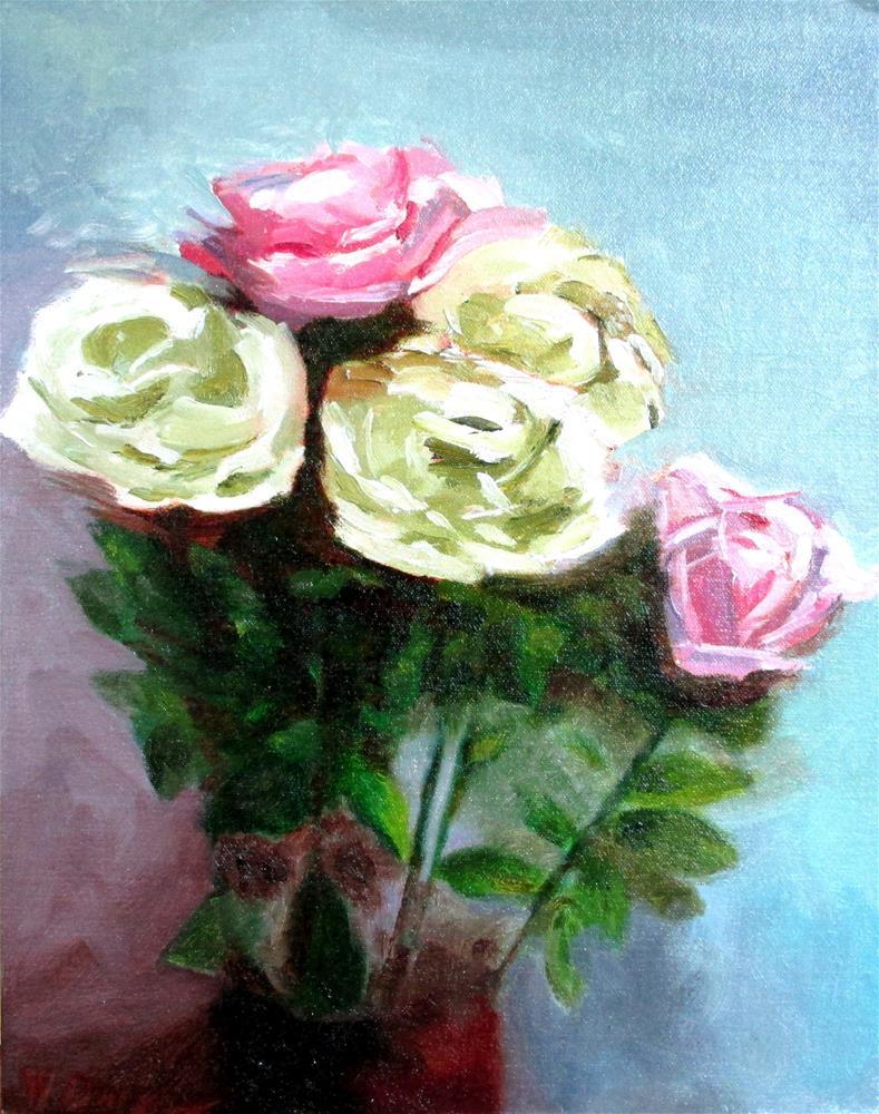 """Roses in 219"" original fine art by Will Dargie"
