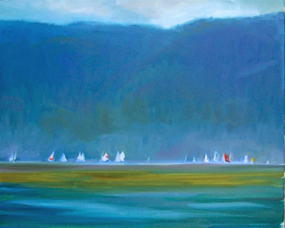 """Fairhaven Boat Race,Seascape,oil on canvas,24x30,Price,NFS"" original fine art by Joy Olney"