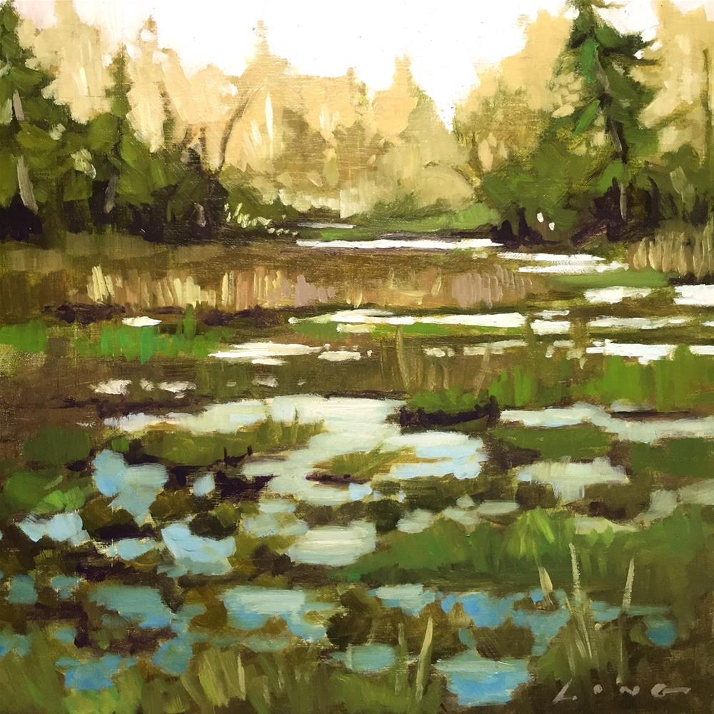 """Marsh v.2, Northern Oregon"" original fine art by Chris Long"