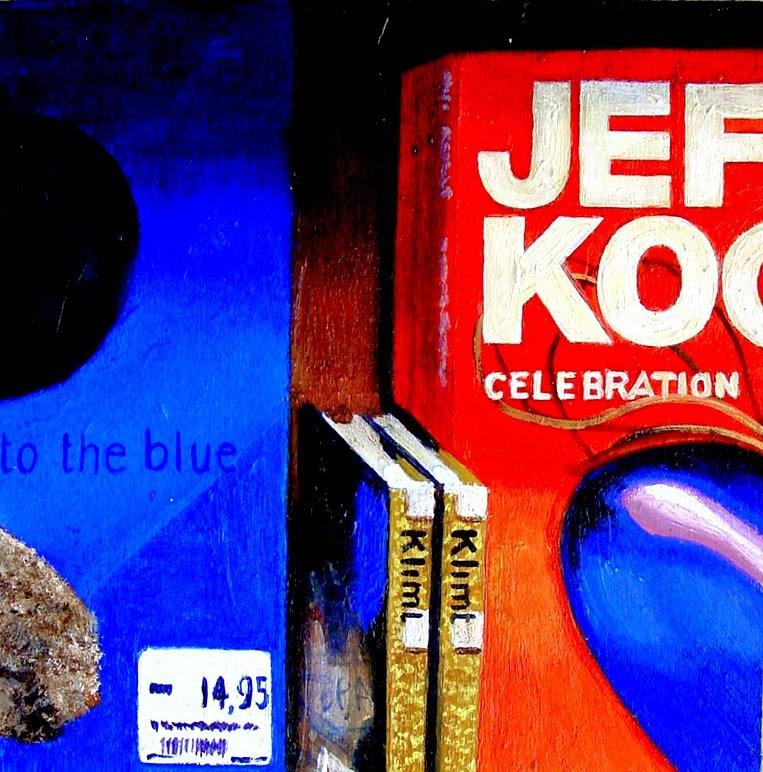 """Celebration- Still Life Painting Of Books On Jeff Koons, Klimt And Klein"" original fine art by Gerard Boersma"