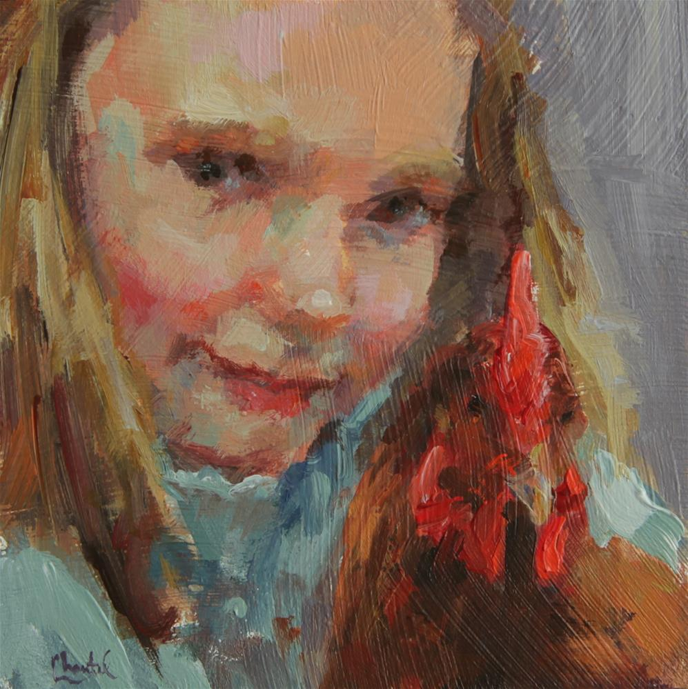 """Farm Girl"" original fine art by Chantel Barber"